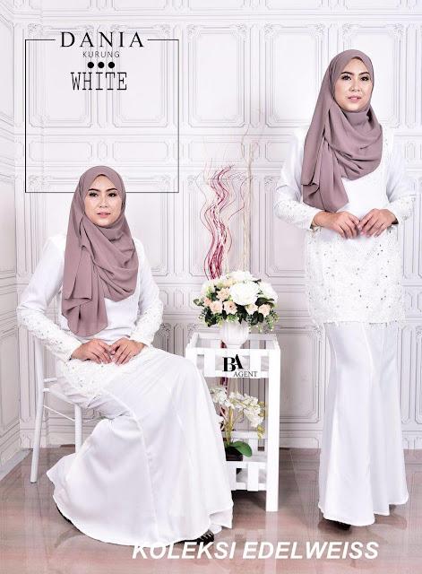 Baju Kurung Moden Putih 2017