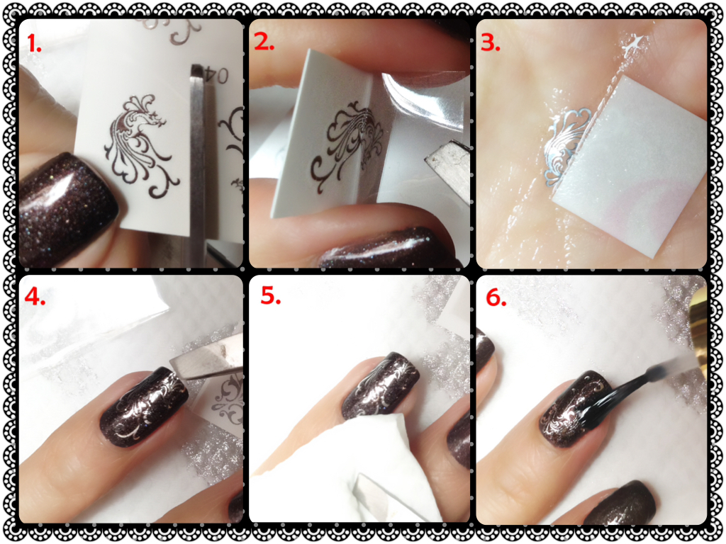 Nail tutorial for Silver Phoenix Decals by Bornprettystore