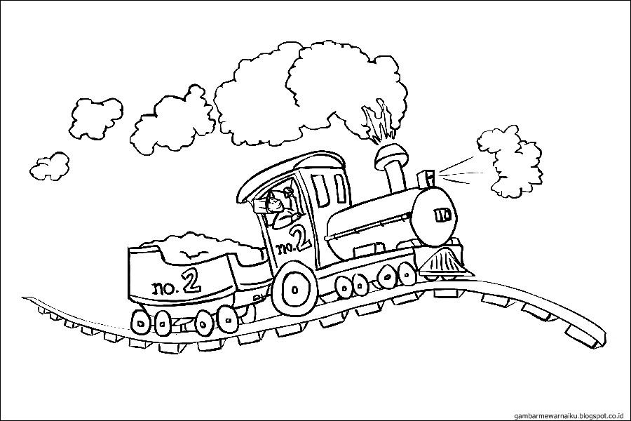 Gambar Kereta Api Untuk Mewarnai Gambar Mewarnai Kereta Api Sukagambarku