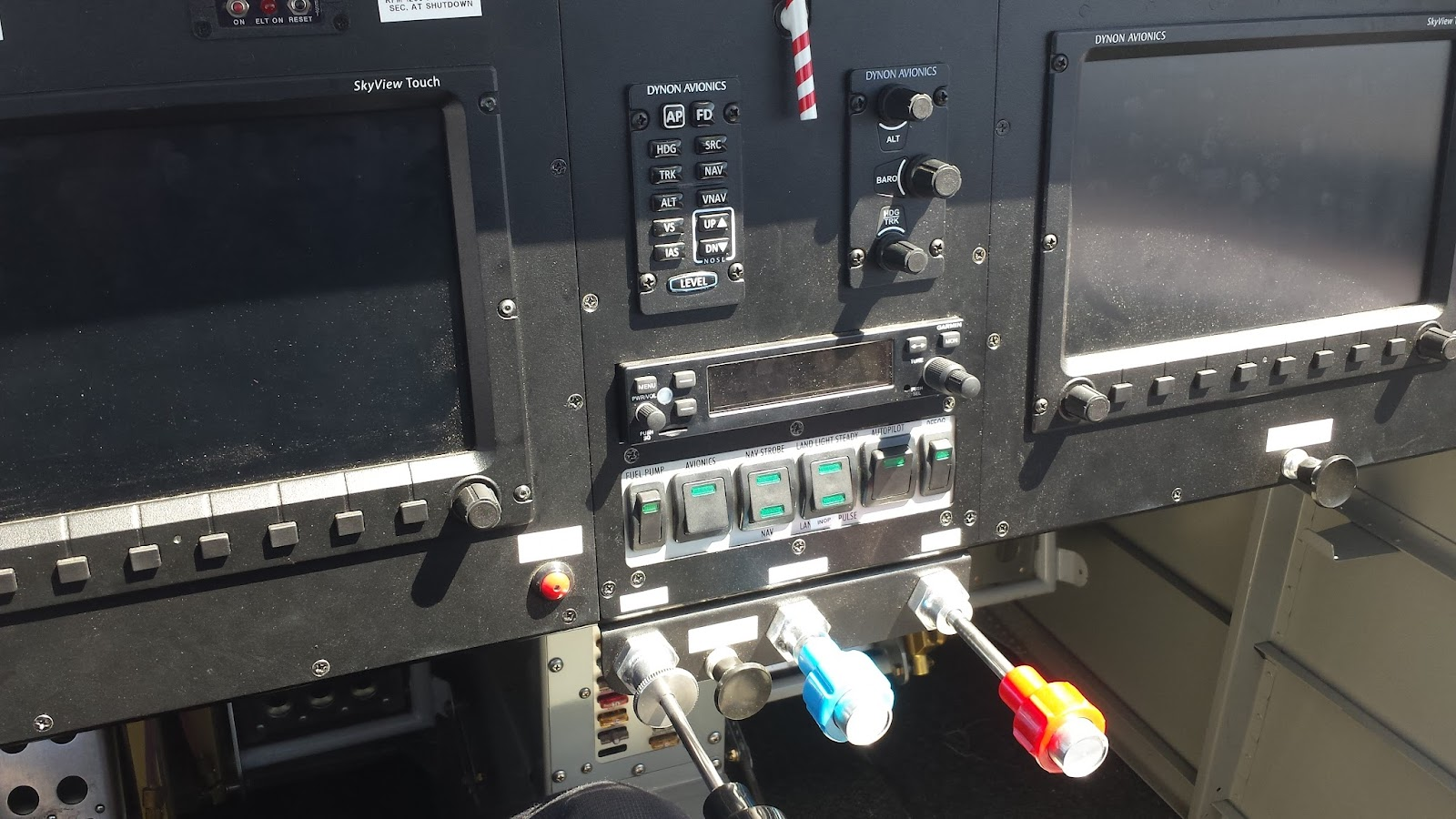 Instrument panel engine controls