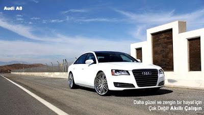 Audi A8 Beyaz Yeni Tasarımı çok güzel