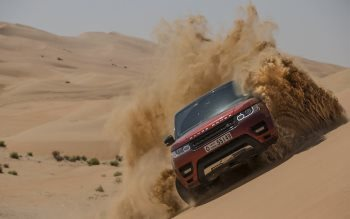 Wallpaper: Range Rover Sport. The Empty Quarter Driven