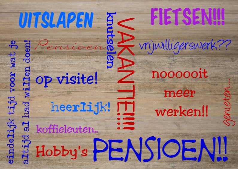 Genoeg Met pensioen | Schoonheden van het leven door Tine de Jong &DY89