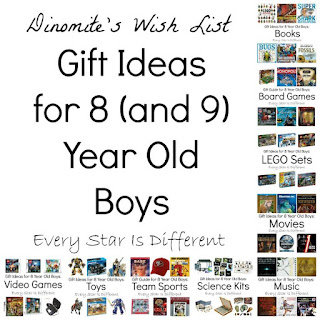 Gift ideas for 8 (and 9) year old boys.