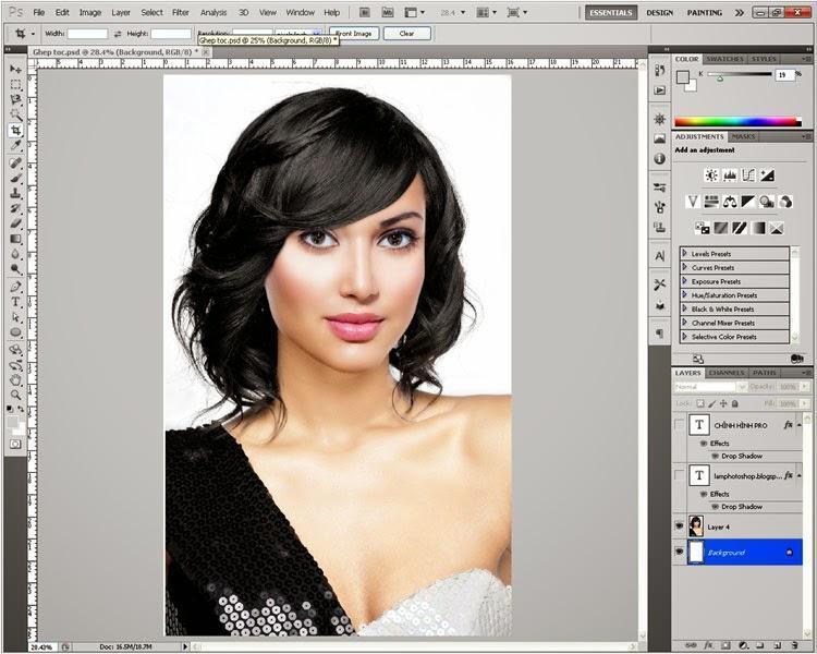 5 giây làm thon khuôn mặt trong photoshop CC