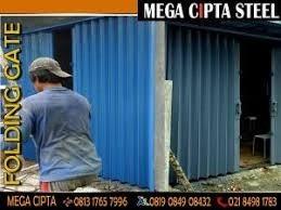 FOLDING GATE PVC CIBATU GARUT   FOLDING GATE PVC   ROLLING DOOR ONE SHEET