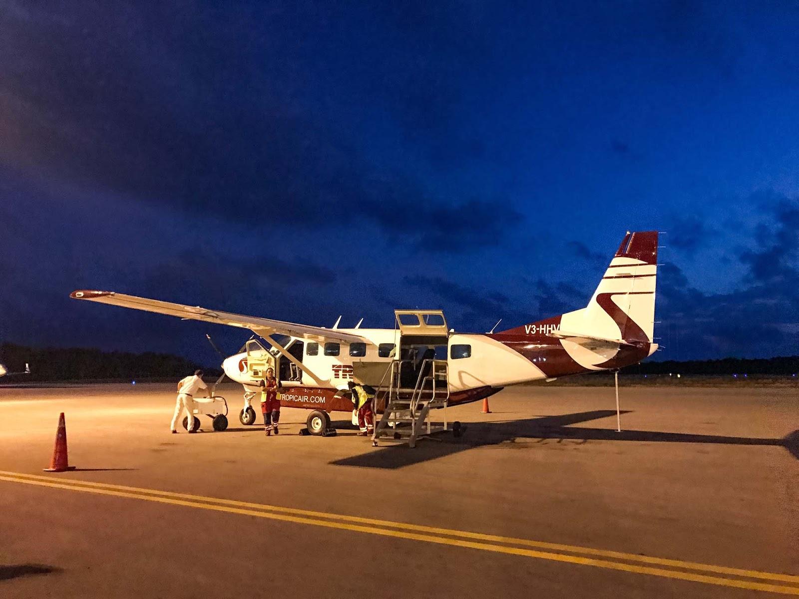 tropic air flight into belize