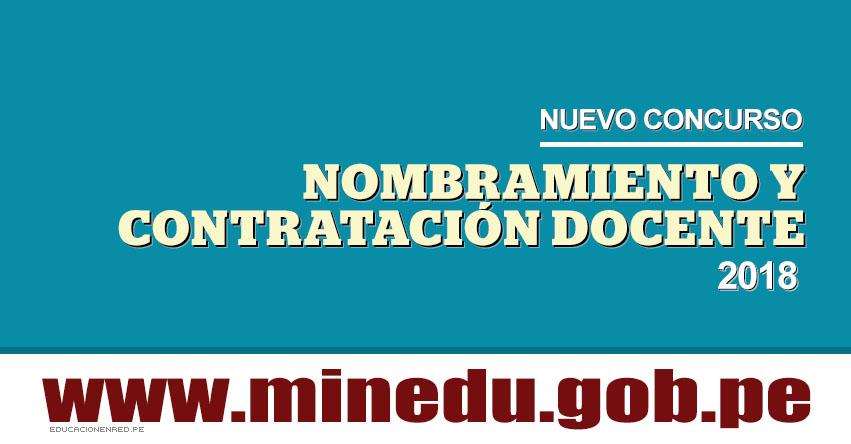 MINEDU: Nombramiento y Contratación Docente 2018 se iniciaría en Mayo, informó el Ministro de Educación Idel Vexler - www.minedu.gob.pe