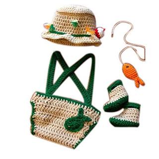 Crochet Knitted Fisherman Set