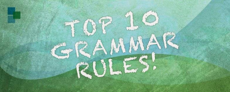 Brockett Creative Group's Top 10 Grammer Rules