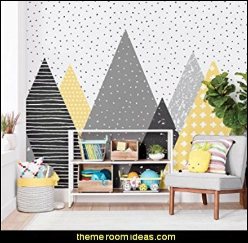 Kids Mountains Wallpaper Peel and Stick