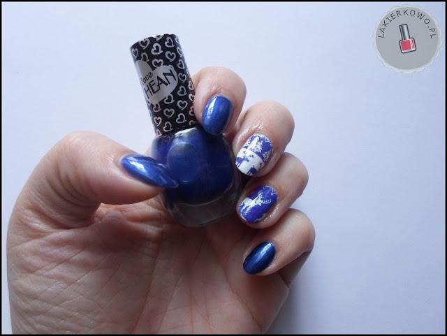 projekt paznokciowy u Asiulcowej - granat :-)