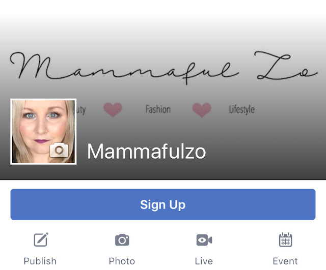 My New Facebook Page - mammafulzoblogger