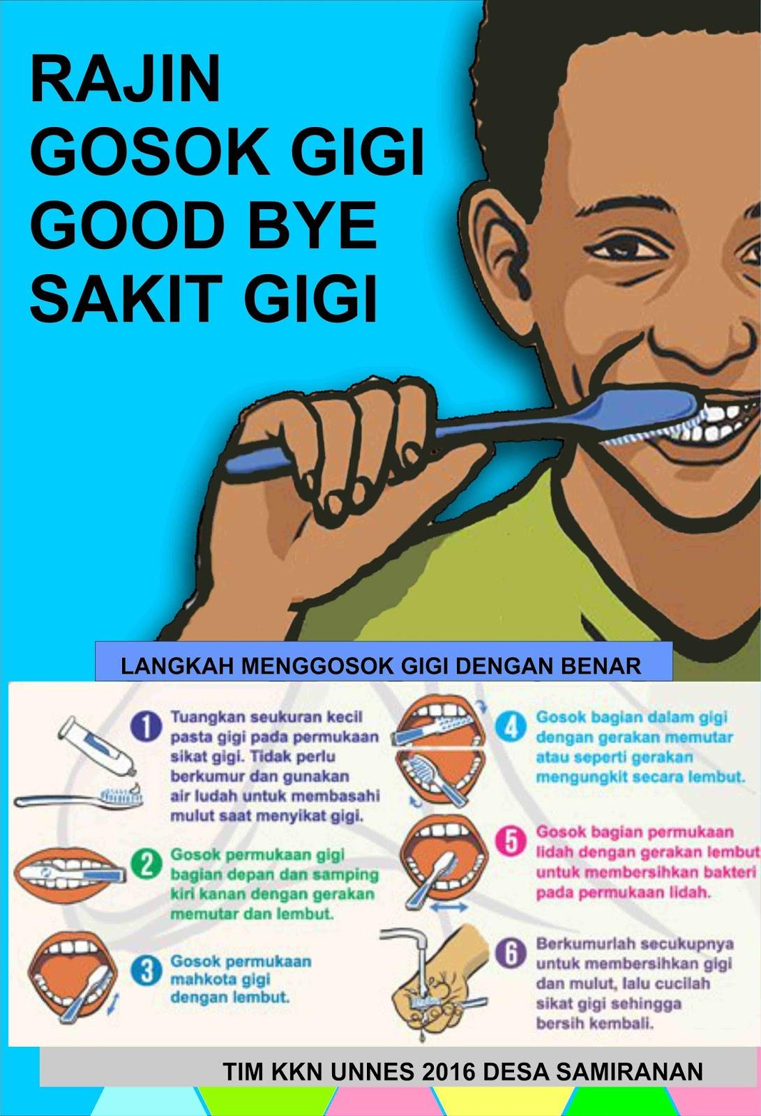 Desain Poster Gosok Gigi  WAROENG ALAM