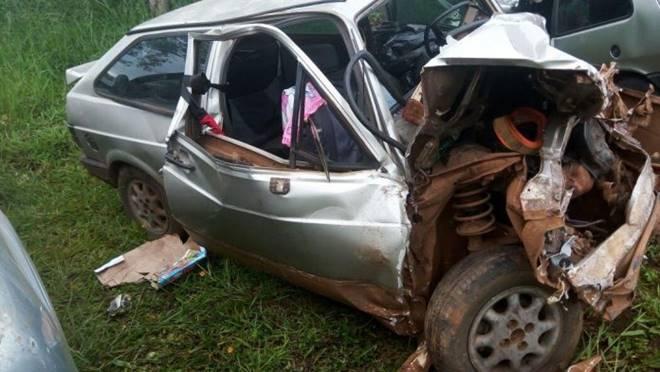 Carro da vereadora evangélica vitima de acidente de trânsito