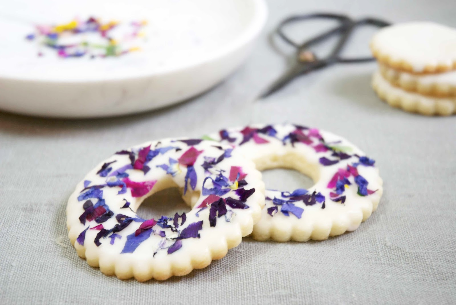 Shayda campbell edible flower stained glass cookies anyway on to the cookies these edible flower stained glass cookies are a fun way to add a bit of summertime colour to your week i hope you like them izmirmasajfo