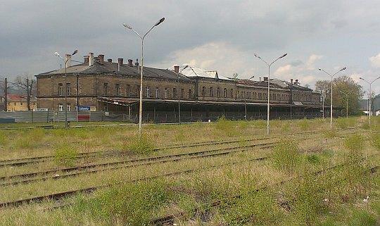 Stacja kolejowa w Lubawce.