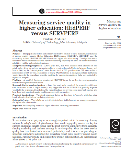 difference of service quality in university 2017-3-30  measuring internal customers' perception on service quality using servqual in administrative services jyotsna hirmukhe department of management sciences, university of pune, maharashtra, india abstract- the inherent complexity of the public service.