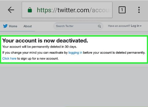 How to Deactivate Twitter Link