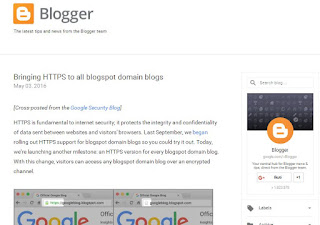 Https Akan Resmi DiBerlakukan Untuk Semua Domain Blogspot