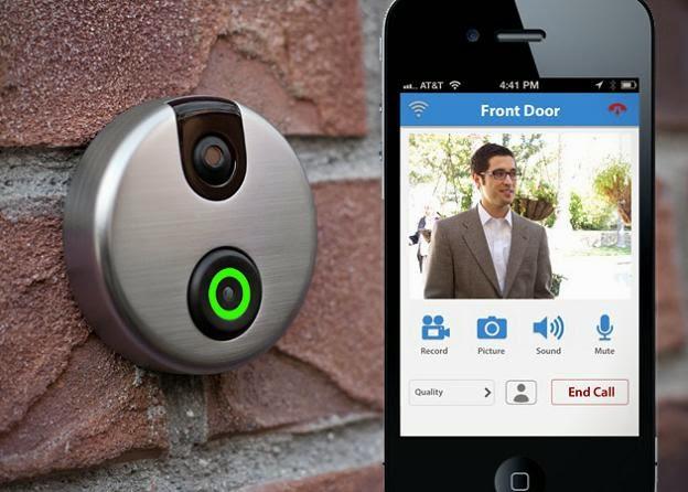 Smart Home Features Doorbell Camera Cell Phone Smart Door Locks App