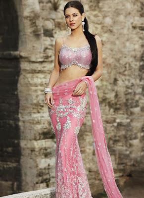 Beautiful Indian Model In Latest Stylish Saree.