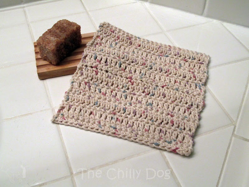 Easy Crochet Washcloth Pattern: Learn four basic crochet stitches and create a cotton washcloth. This is a great project for beginners.