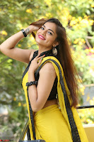Cute Actress Ashwini in Yellow Saree Exclusive  023.JPG