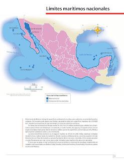 Apoyo Primaria Atlas de México 4to Grado Bloque II Lección 2 Límites marítimos nacionales