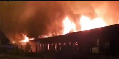 حريق هائل بمحطة للقطارات في فرنسا