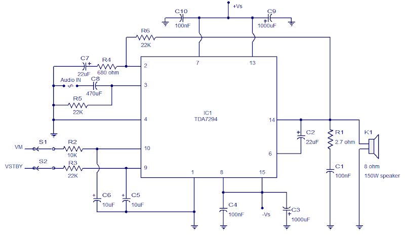 38v Wiring Diagram 100w Audio Amplifier With Tda7294 Circuit Wiring