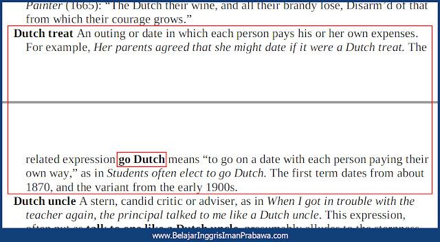 Arti Go Dutch