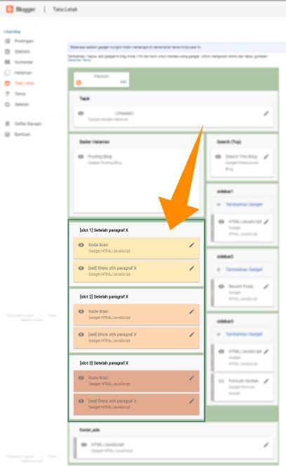 Cara memasang iklan pada artikel tampil di paragraf tertentu yang bisa diedit pada layout Blogger