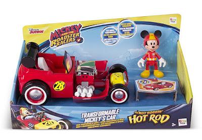 MICKEY Y LOS SUPERPILOTOS Coche Transformable de Mickey   Hot Hod CAJA JUGUETE