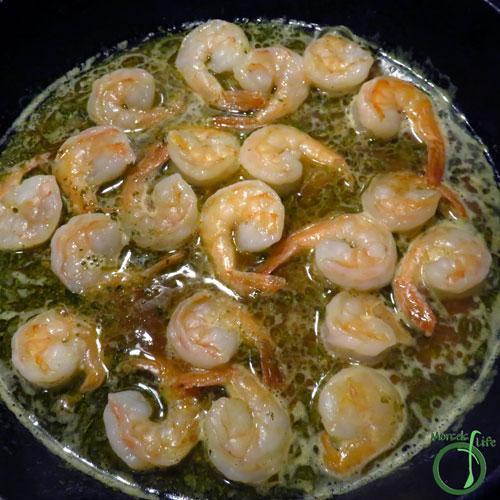 Morsels of Life - Garlic Butter Shrimp Step 6 - Return shrimp to pan, and cook until done.