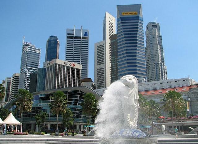 Ikon kota Singapore - Merlion