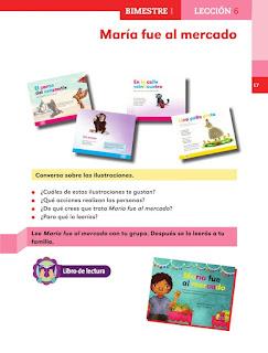 Apoyo Primaria Español 1er grado lección 6 María fue al mercado