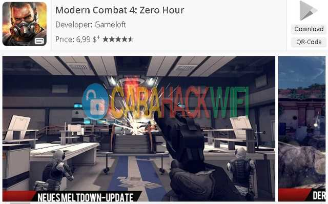 Modern Combat 4  Zero Hour game android multiplayer