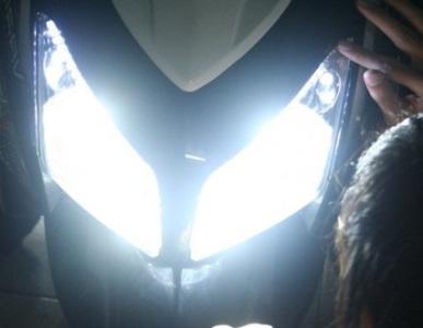 menjadikan lampu sepeda motor lebih terang