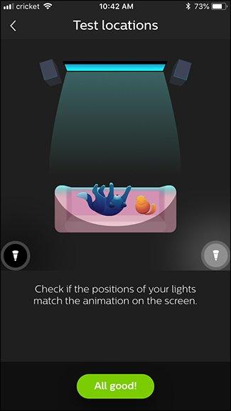 confermare la posizione corretta di ciascuna lampadina