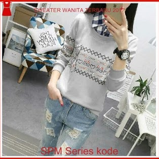 13SPM Sweater Keren Wanita Style Anak Sekolah Bj6113