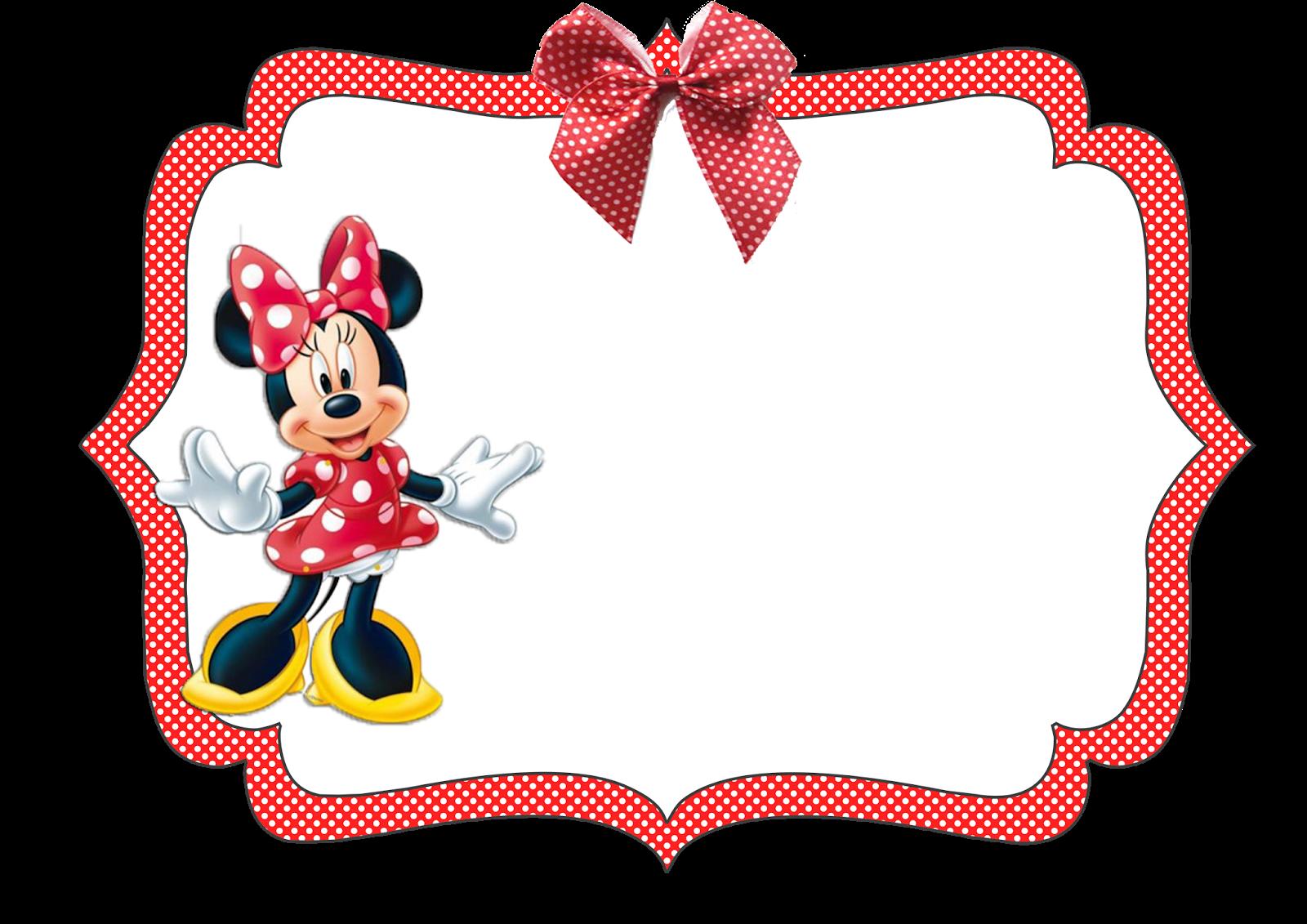 Kit Aniversario Personalizados Tema Minnie Vermelha Para