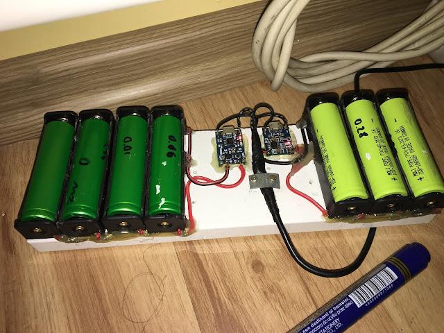 Ładowanie akumulatorów 18650