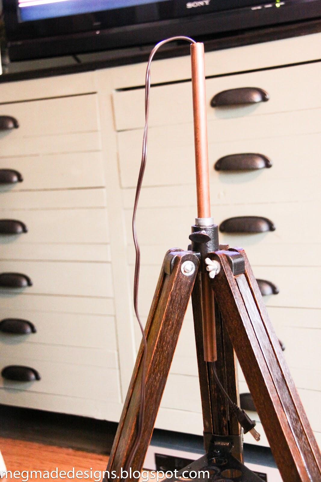 DIY Tripod Lamp | MegMade