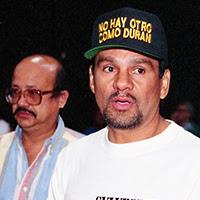 Roberto Duran preparing to fight Vinny Pazienza in Vegas 1994