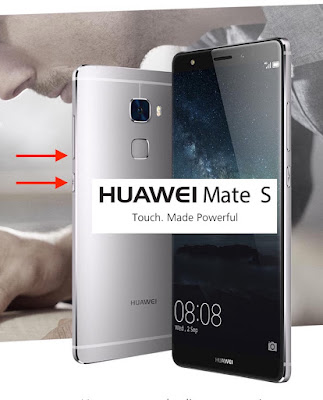 come salvare screenshot huawei mate s