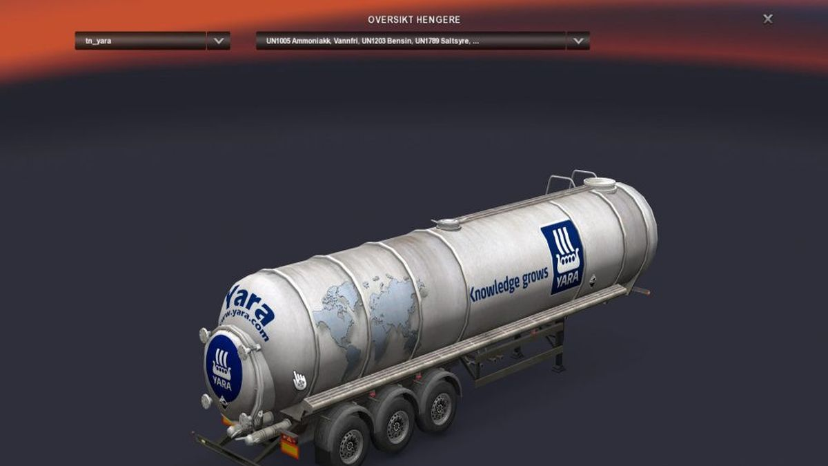 Yara Chemical Trailer