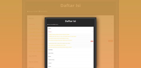 Cara Membuat Sitemap/Daftar Isi Berdasarkan Label Secara Otomatis
