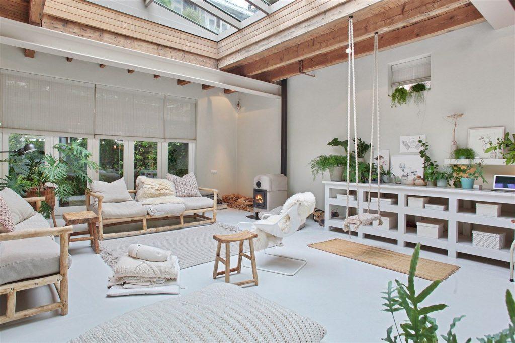 atelier rue verte le blog amsterdam un loft lumineux dans un ancien garage. Black Bedroom Furniture Sets. Home Design Ideas