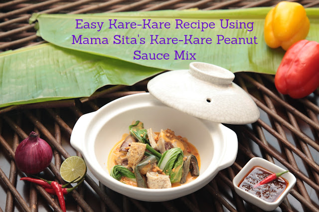 All-Around Pinay Mama: Easy Kare-Kare Recipe Using Mama Sita's Kare-Kare Peanut Sauce Mix